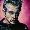 "James Dean, 12"" x 12"", acrylic on canvas"