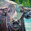 "Mern's Water Buffalo, 16"" x 24"", acrylic on canvas"