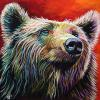 "McKay Bear, 30"" x 30"", acrylic on canvas"