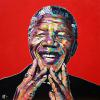 "Nelson Mandela, 24"" x 24"", acrylic on canvas"