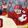"500 (Lanny McDonald and Bob Cole), 24"" x 48"", acrylic on canvas"