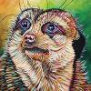 "McNeilly the Meerkat, 16"" x 24"", acrylic on canvas"