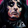 "Alice Cooper, 16"" x 24"", acrylic on canvas"