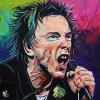 "Johnny Rotten, 16"" x 16"", acrylic on canvas"