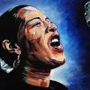 "Billie Holiday, 12"" x 24"", acrylic on canvas"