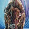 "Buffalo the Brave, 15"" x 30"", acrylic on canvas"