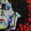 "Edward Scissorhands, a collaboration with Taylor Donald, 12"" x 24"", acrylic on canvas"
