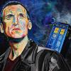 "Dr. Who - Christopher Eccleston, 18"" x 24"", acrylic on canvas"