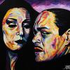 "Morticia and Gomez, 36"" x 48"", acrylic on canvas"