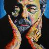 "George Lucas, 8"" x 10"", acrylic on canvas"