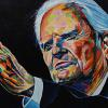 "Billy Graham, 24"" x 36"", acrylic on canvas"
