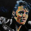 "Elvis Presley, 18"" x 24"", acrylic on canvas"