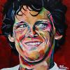 "Terry Fox, 16"" x 20"", acrylic on canvas (painted live in Innisfail, AB)"