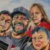 "Brendan, Shane, Erica and Ethan Hurley, 24"" x 36"", acrylic on canvas"