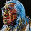 "Chief Dan George, 16"" x 16"", acrylic on canvas"