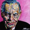 "Morley Safer, 16"" x 16"", acrylic on canvas"
