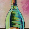 "Ruinart Champagne, 18"" x 36"", acrylic on canvas"