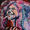 "Janis Joplin, 12"" x 12"", acrylic on canvas"