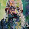 "Claude Monet, 16"" x 16"", acrylic on canvas"