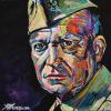"Dwight Eisenhower, 12"" x 12"", acrylic on canvas"