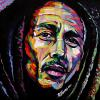 "Bob Marley, 16"" x 16"", acrylic on canvas"
