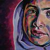 "Malala Yousafzai, 10"" x 20"", acrylic on canvas"
