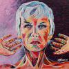 "Annie Lennox, 24"" x 24"", acrylic on canvas"