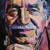 "Gabriel Garcia Marquez, 16"" x 16"", acrylic on canvas"