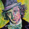 "Gene Wilder, 20"" x 20"", acrylic on canvas, painted on the day of his passing, August 29, 2016"