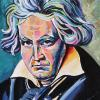 "Beethoven, 12"" x 18"", acrylic on canvas"