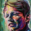 "Robert Kennedy, 18"" x 24"", acrylic on canvas"