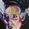"Bride of Frankenstein No. 3, 24"" x 48"", acrylic on canvas"