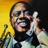 "Louis Armstrong, 24"" x 24"", acrylic on canvas"