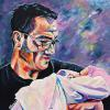 "Brian MacDougall and Godson, 24"" x 24"", acrylic on canvas"
