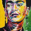 "Frida Kahlo, 12"" x 24"", acrylic on canvas"
