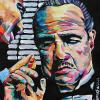 "Marlon Brando, 11"" x 14"", acrylic on canvas"