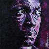 "John Coltrane, 12"" x 12"", acrylic on canvas"