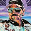 "Dale Earnhardt Sr., 24"" x 36"", acrylic on canvas"