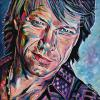 "Jon Bon Jovi, 16"" x 16"", acrylic on canvas"
