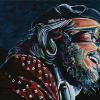 "Dr. John, 10"" x 20"", acrylic on canvas"