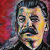 "Stalin, 12"" x 12"", acrylic on canvas"