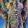 "Elephant No. 2, 24"" x 36"", acrylic on canvas"