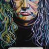 "Dave Mustaine, 18"" x 36"", acrylic on canvas"