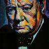 "Winston Churchill, 30"" x 40"", acrylic on canvas"