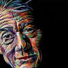 "John Hurt, 15"" x 30"", acrylic on canvas"