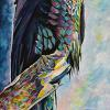 "Russell's Raven, 18"" x 36"", acrylic on canvas"