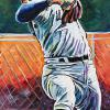 "Sandy Koufax, 10"" x 20"", acrylic on canvas"