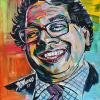 "Nenshi No. 1, 12"" x 12"", acrylic on canvas"