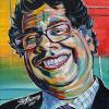 "Nenshi No. 3, 12"" x 12"", acrylic on canvas"