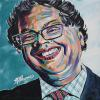 "Naheed Nenshi No. 5, 12"" x 12"", acrylic on canvas"